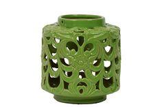 Urban Trends Collection Ceramic Lantern Green UTC40401 Front Porch Makeover, Ceramic Lantern, Urban Trends, Lanterns, Ceramics, Lighting, Green, Collection, Home Decor