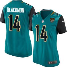 Nike Limited Justin Blackmon Teal Green Women's Jersey - Jacksonville Jaguars #14 NFL Home