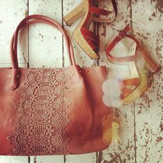 So cute... New lace tote online! #style #accessories #lace
