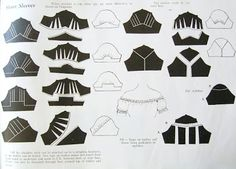 Sleeves~~ I like the one with a triangle inset at the top, a nice way to add gathering or contrast