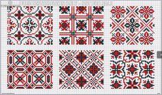 DMC Alphabet de la Brodeuse, c. page All-over patterns, two colors Cross Stitch Borders, Cross Stitch Patterns, Loom Patterns, Beading Patterns, Palestinian Embroidery, Pixel Pattern, Dmc, Chart Design, Groomsmen