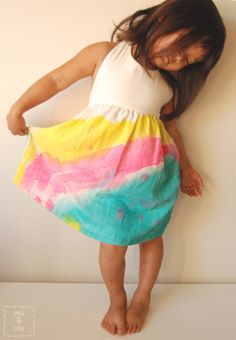 Watercolor Dress {and tips for painting fabric} // you & mie