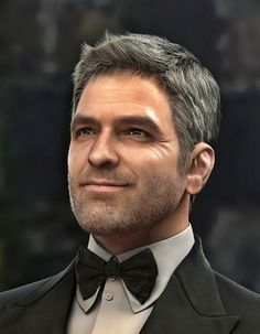George Clooney, Myunghyun Choi on ArtStation at https://www.artstation.com/artwork/D99En