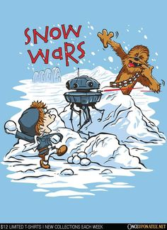 Snow Wars by DJ Kopet is available until 1/12 at OnceUponaTee.net starting at $12!