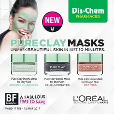 Dis-Chem Pharmacies (@Dischem) | Twitter Mask For Oily Skin, Glow Mask, Dull Skin, Hair Care Tips, Detox, Clay, Pure Products, Twitter, Beauty