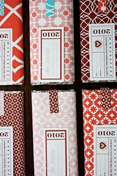 valentine patterns and labels