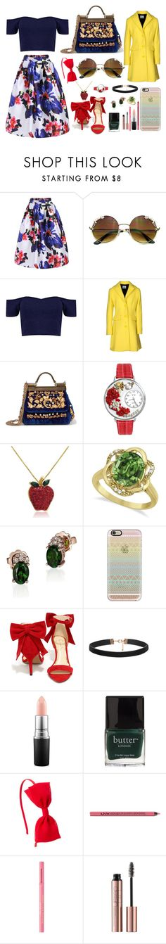 """""""Untitled"""" by averie-asajar ❤ liked on Polyvore featuring Boohoo, Moschino Cheap & Chic, Dolce&Gabbana, Whimsical Watches, Amanda Rose Collection, Allurez, LE VIAN, Casetify, Jessica Simpson and MAC Cosmetics"""