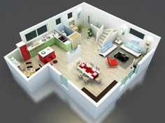 natirane_rdc_hd-2.jpg | Idées maison | Pinterest | Ossature bois ...