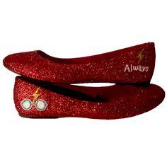 Women s Sparkly burgundy Glitter ballet Flats bride wedding shoes Harry  Potter 19b2a77a8