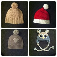 Crochet hats Winter Hats, Crochet Hats, Beanie, Fashion, Knitting Hats, Moda, Fashion Styles, Beanies, Fashion Illustrations