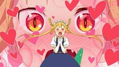 Tohru - Kobayashi-san Chi No Maid Dragon 2017 Anime, Kobayashi San Chi No Maid Dragon, Dragon Names, Heart Emoji, Miss Kobayashi's Dragon Maid, Kyoto Animation, Demon Girl, Anime Screenshots, Female Anime