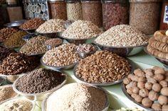 Indiase specerijen op de markt