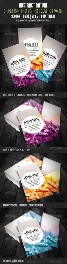Abstract Nature Business Card - GraphicRiver Item for Sale