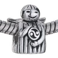 Pugster Angel Holding Anode And Cathode 925 Sterling Silver European Bead