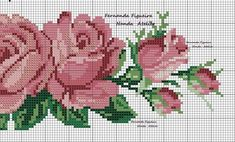 This Pin was discovered by Nel Cross Stitch Rose, Cross Stitch Borders, Cross Stitch Flowers, Cross Stitching, Cross Stitch Embroidery, Hand Embroidery, Cross Stitch Patterns, Embroidery Designs, Swedish Weaving