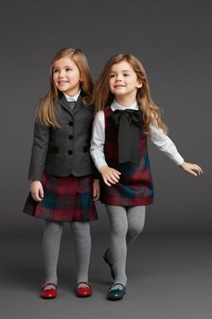 Cute winter/cold season uniform for the little ones (Dolce & Gabbana Kids Fall Winter 2013)