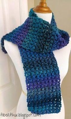 Free Crochet Pattern...Tweedy Puff Stitch Scarf! | Fiber Flux...Adventures in Stitching | Bloglovin