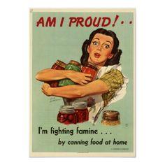 WWII Propaganda poster - canning food Mom