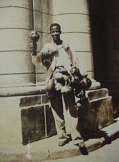 Traditional souvenir seller in Havana Cuba in the 1920's