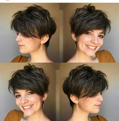 Best Pixie And Bob Short Haircuts For Women – Bob Hairstyles medium Short Hairstyles For Thick Hair, Medium Short Hair, Short Pixie Haircuts, Hairstyles Haircuts, Curly Hair Styles, Cool Hairstyles, Korean Hairstyles, Everyday Hairstyles, Short Hair Cuts For Women Pixie