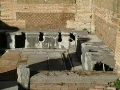 Public lavatoory. Via della Florica, Ostia #architecture #design