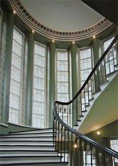 Beautiful windows along the stairs