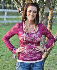 Plum Lace Blouse $13.95 www.gugonline.com