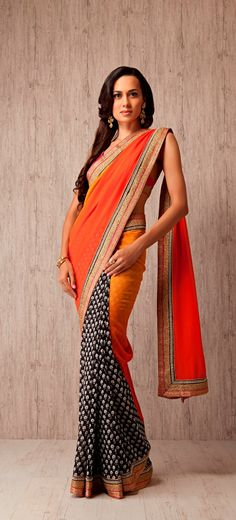 color/pattern blocking. the indian way.