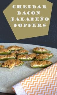 Baked Cheddar Bacon Jalapeno Poppers