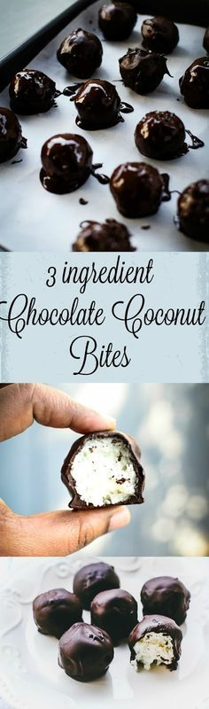 Guys, have an amazing and easy dessert for upcoming holiday season by making this 3 ingredient Chocolate Coconut Balls.
