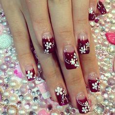 "9/23/13 Minzy's Instagram: ""autumn nail art."""
