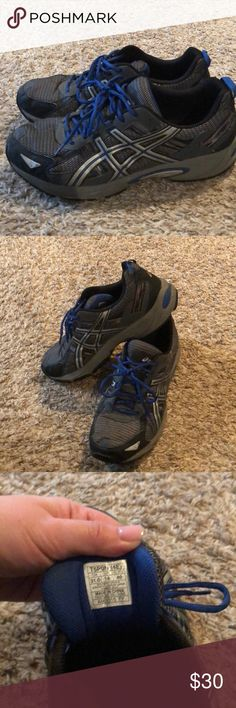 ASICS men's Size 14. Gently worn! These still have lots of life left! Asics Shoes Athletic Shoes