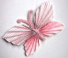 Pretty Folded Paper Butterflies