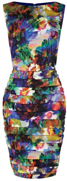 Coast Adria Floral Print Dress in Multicolor (Multi) | Lyst
