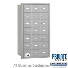 4B+ Horizontal Mailbox - 21 A Doors - Aluminum - Rear Loading - Private Access by Salsbury Industries. $661.50. 4B+ Horizontal Mailbox - 21 A Doors - Aluminum - Rear Loading - Private Access - Salsbury Industries - 820996417336