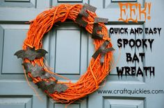Spooky bat wreath spooky diy halloween crafty halloween crafts halloween diy crafts halloween wreaths bat wreath halloween wreath ideas halloween door decorations