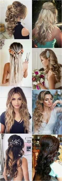 Wedding Hairstyles » 18 Creative and Unique Wedding Hairstyles for Long Hair »…