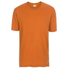 Paul Smith Men's Burnt Orange Cotton And Silk-Blend T-Shirt ($175) ❤ liked on Polyvore featuring men's fashion, men's clothing, men's shirts, men's t-shirts, tops, burnt orange, mens slim shirts, mens crew neck t shirts, mens slim fit shirts and mens jersey shirts
