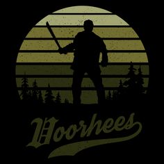 Horror Sun Set Voorhees #jason #voorhees #jasonvoorhees #campcrystallake #apparel #tee #horror #film