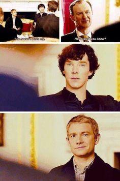Sherlock :) - John :) that is johns murderous smile...