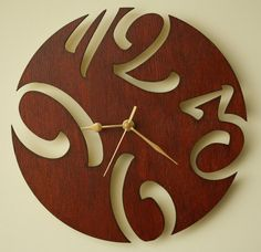 Hey, I found this really awesome Etsy listing at https://www.etsy.com/listing/223167118/laser-cut-wooden-wall-clock