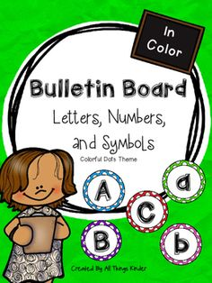 Jazz up your bulletin boards and make your word walls pop, with these colorful dot themed letters, numbers, and symbols! Included are upper and lowercase letters, numbers 0-9, and 15 commonly used punctuation marks and symbols. Just copy, laminate and cut to make every display eye-catching and colorful!Follow my store for instant updates on products, promotions, sales, and freebies!