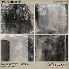 Paper Layers - Set 01 By Laitha's Designs