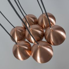 Lámpara colgante CLUSTER 7 cobre #iluminacion #interiorismo #diseño