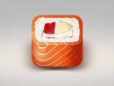 Dribbble - Auto Sushi App Icon. Final. by Alex Litvinov