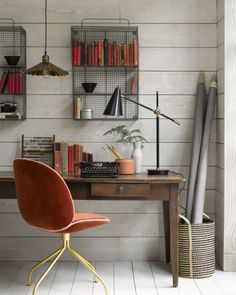 Get inspired by these mid century modern design for your home office #furnitureinfashion