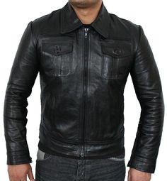 Mens Black Leather Jacket - Mens Jackets