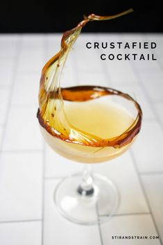 coffe liquor drinks - Crustafied whiskey orange curaçao lemon angostura notes on moving on from craft cocktails Fruity Cocktails, Craft Cocktails, Refreshing Drinks, Christmas Cocktails, Yummy Drinks, Molecular Cocktails, Cocktail Garnish, Cocktail Drinks, Cocktail Recipes