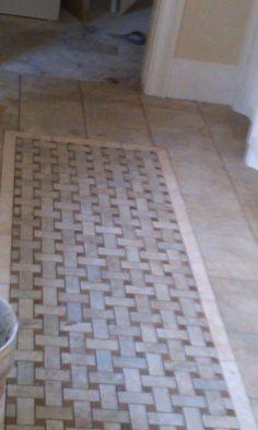 Master Bath Tile Rug