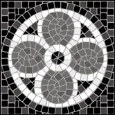 Mosaic stencils from The Stencil Library. Buy from our range of Mosaic stencils online. Page 1 of our Mosaic cornerpiece stencil catalogue. Mosaic Tile Art, Mosaic Artwork, Mosaic Crafts, Mosaic Projects, Stone Mosaic, Mosaic Glass, Stained Glass Paint, Stained Glass Patterns, Mosaic Patterns